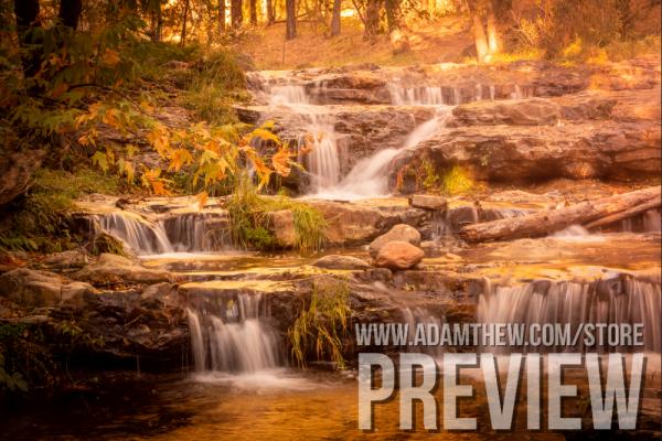Cascading Falls Of Horton Creek On A Fall Day