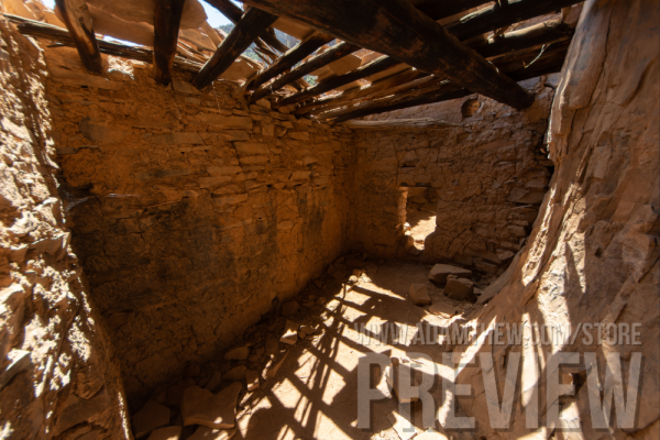 Light Shines Through Roof Of Ancient Dwelling