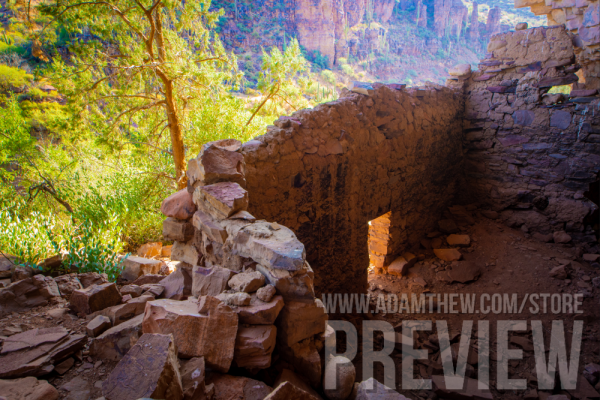 A Look Out, Ancient Ruins In The Sierra Ancha Wilderness