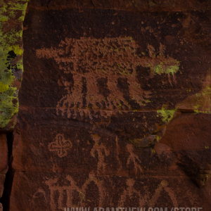 Red Rock Bear Petroglyph