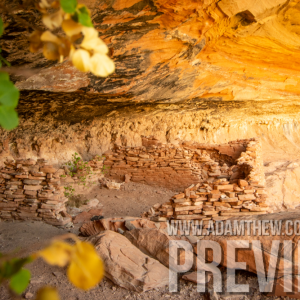 Light Shines Onto Ancient Cliff Dwellings