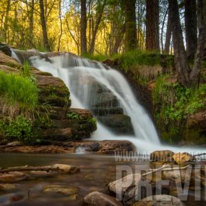 Double Autumn Waterfall